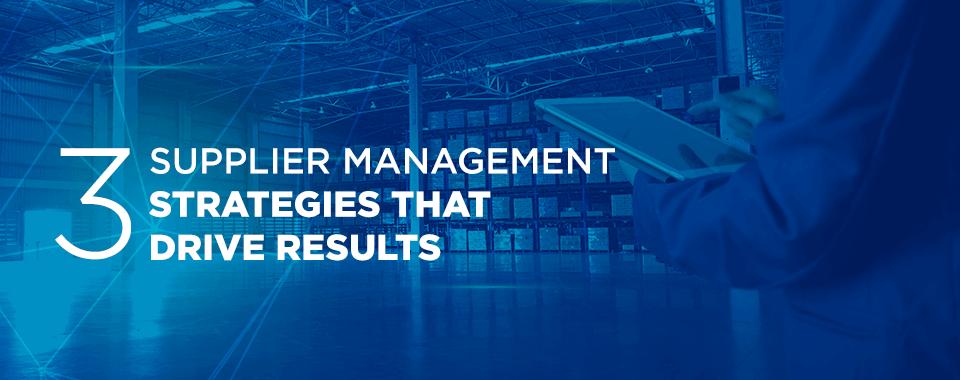 supplier management strategies