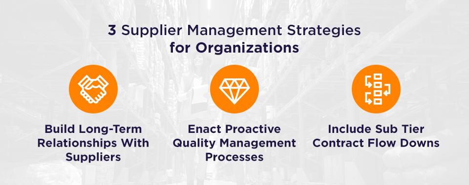 supplier management for organizations